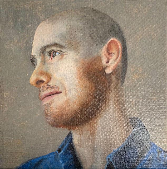 2020 Retrato oleo sobre lienzo de 20x20cms