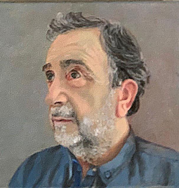 Retrato, óleo sobre lienzo de 20x20cm